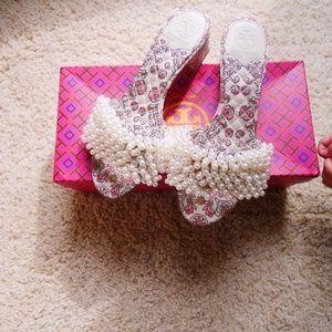 Tory Burch Pearl Embellished Sandal gal meets glam